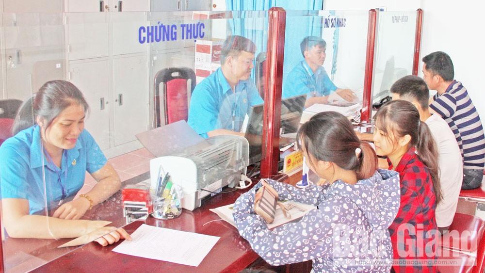 Bắc Giang: Nhiều chuyển biến trong cải cách hành chính ở cấp xã